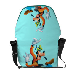 Funny Dancing Goofy Rickshaw Medium Zero Messenger Bag
