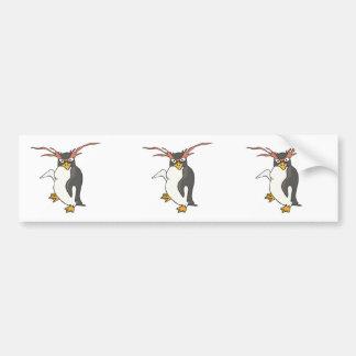 goofy dancing penguin car bumper sticker