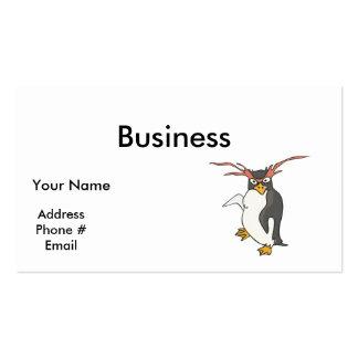 goofy dancing penguin business card