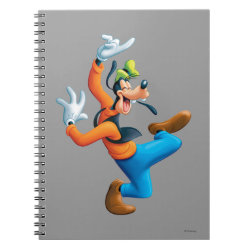 Photo Notebook (6.5' x 8.75', 80 Pages B&W) with Funny Dancing Goofy design