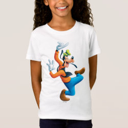 Girls' Fine Jersey T-Shirt with Funny Dancing Goofy design