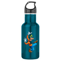 Water Bottle (24 oz) with Funny Dancing Goofy design