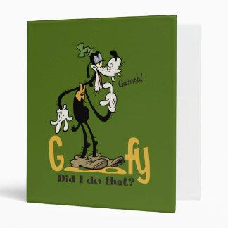 Goofy - Did I do that? Binder