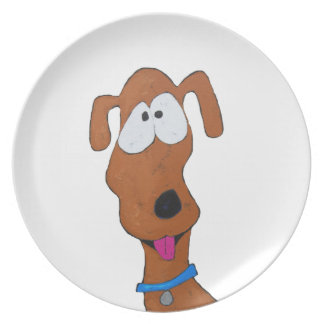 goofy dog plate