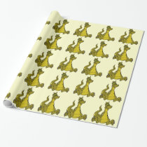 Goofy Dragon Wrapping Paper