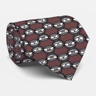 Goofy Eyes Pattern Tie