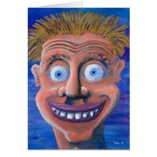 Goofy Face Card