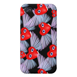 Goofy flying hearts iPhone 4 case