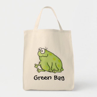 Goofy Frog Grocery Tote Bag