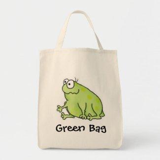 Goofy Frog Tote Bag bag