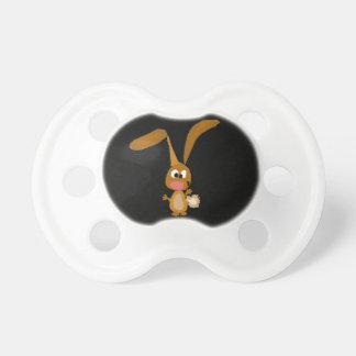 Goofy Funny Bunny Rabbit Art Pacifier