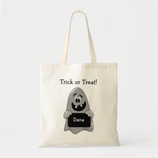 Personalized Ghost Trick or Treat Bag