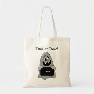 Goofy Ghost Custom Halloween Trick or Treat Bag