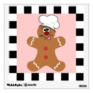 Goofy Gingerbread Man Cookie Room Decal