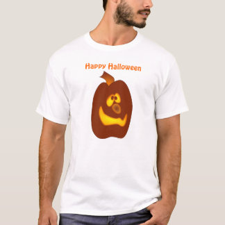 Goofy Glowing Halloween Jack-o-Lantern Pumpkin T-Shirt