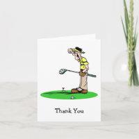 Goofy Golfer Thank You Cards