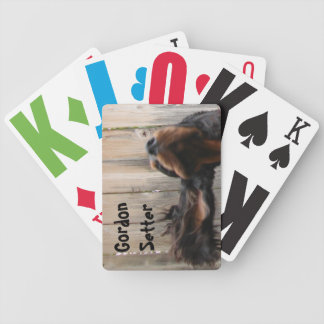 Goofy Gordon Setter Playing Cards