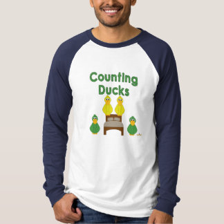 Goofy Green And Yellow Ducks Counting Ducks T-Shirt