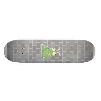 goofy green blob monster custom skate board