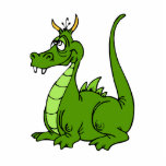 Goofy Green Dragon Cut Out