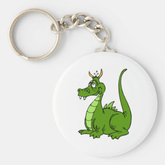Goofy Green Dragon Keychain