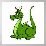 Goofy Green Dragon Poster