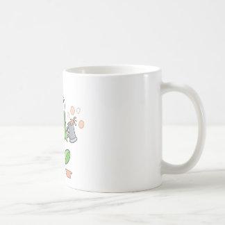 goofy green drunk monster cutie classic white coffee mug