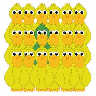 Goofy Green Duck Be Different Cutout