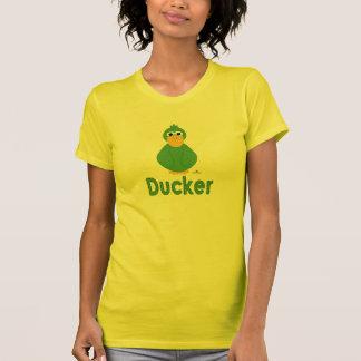 Goofy Green Duck Ducker T-Shirt