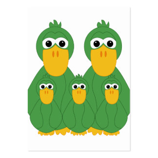 Goofy Green Ducks And 3 Babies Business Card Template