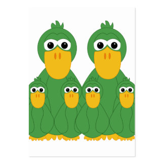 Goofy Green Ducks And 4 Babies Large Business Cards (Pack Of 100)