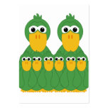 Goofy Green Ducks And 6 Babies Large Business Cards (Pack Of 100)