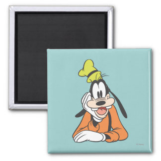 Goofy Hand on Chin 2 Inch Square Magnet