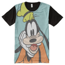 Men's American Apparel All-Over Printed Panel T-Shirt with Classic Cartoon Goofy design