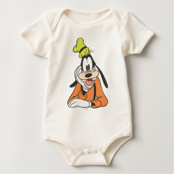 Infant Organic Creeper with Classic Cartoon Goofy design