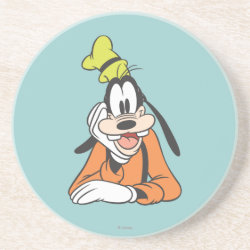 Sandstone Drink Coaster with Classic Cartoon Goofy design