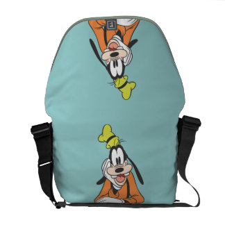 Goofy Hand on Chin Courier Bags