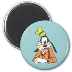 Round Magnet with Classic Cartoon Goofy design
