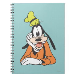 Photo Notebook (6.5' x 8.75', 80 Pages B&W) with Classic Cartoon Goofy design