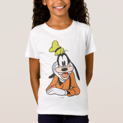 Girls' Fine Jersey T-Shirt with Classic Cartoon Goofy design