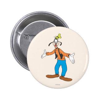 Goofy | Hands Wide Pinback Button