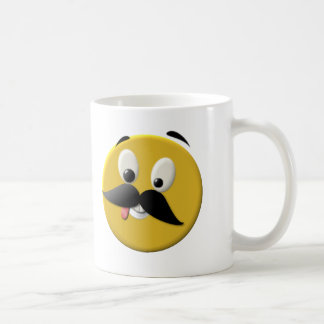 Goofy Happy Face with Mustache Coffee Mug