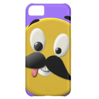 Goofy Happy Face with Mustache Cover For iPhone 5C