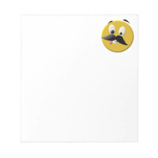 Goofy Happy Face with Mustache Notepads