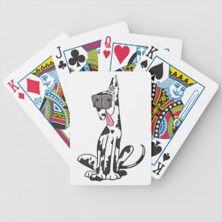 Goofy Harlequin Great Dane Bicycle Playing Cards