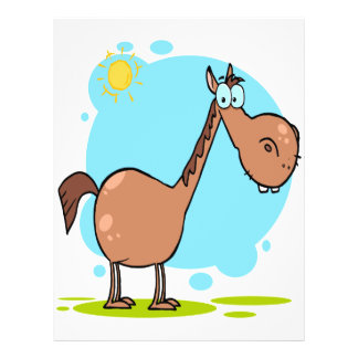 goofy horse cartoon character custom flyer