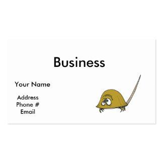 goofy horseshoe crab business card