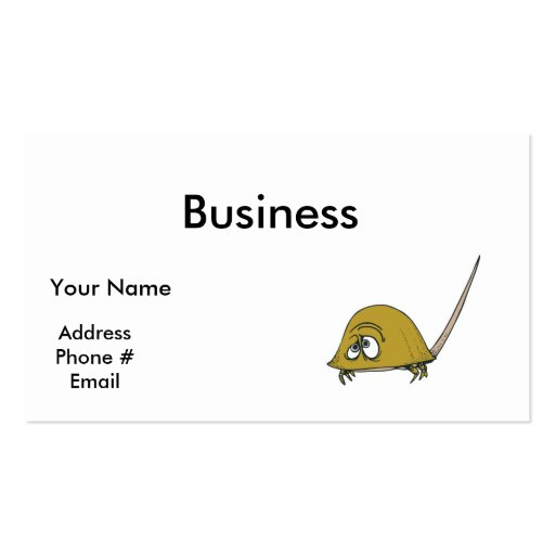goofy horseshoe crab Double-Sided standard business cards (Pack of 100)