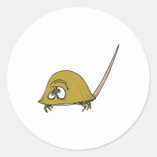 goofy horseshoe crab classic round sticker