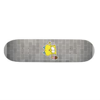 goofy ice cream monster skateboard deck